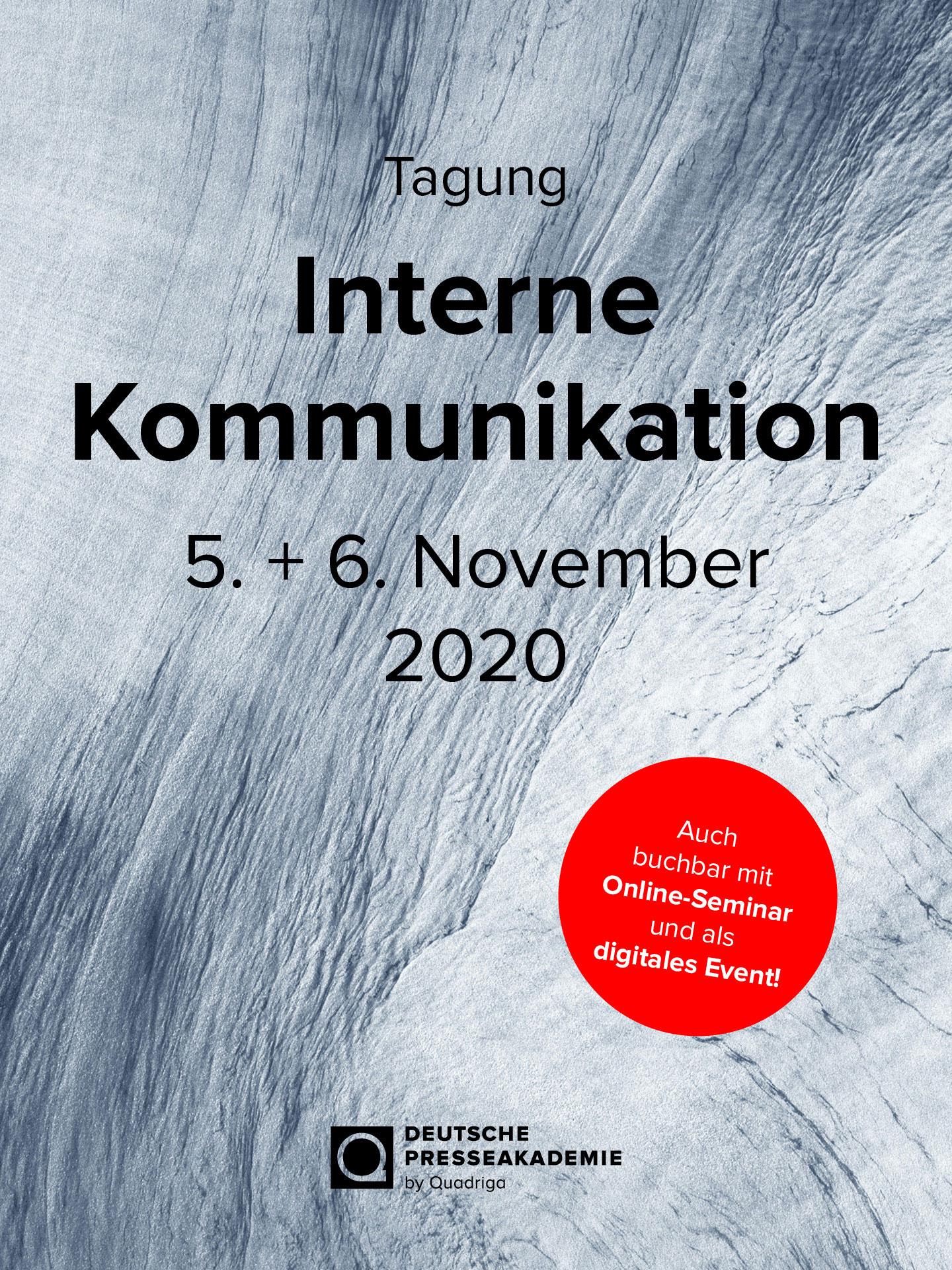 Tagung Interne Kommunikation, 05. - 06.11.2020, in Berlin